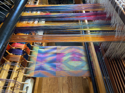 warp and woven samples
