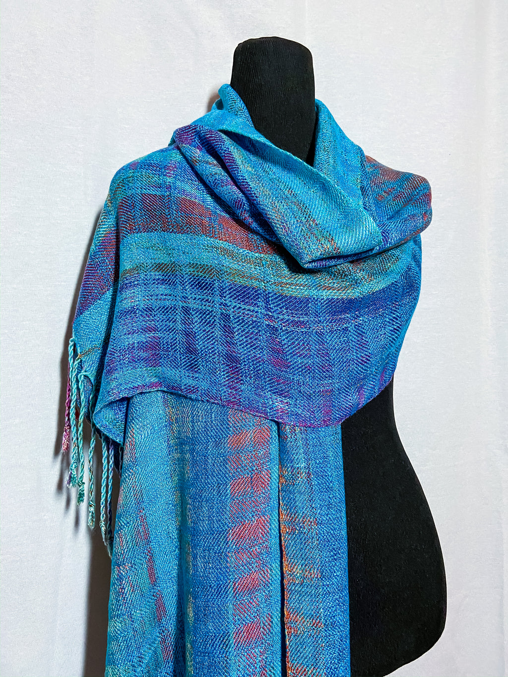 Malachit Kingfisher Mini Shawl - Sydney Sogol, Wearable Art, Mini Shawls, malachit-kingfisher-mini-shawl,