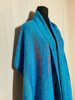 Load image into Gallery viewer, Eastern Bluebird Mini Shawl - Sydney Sogol, Wearable Art, Mini Shawls, eastern-bluebird-mini-shawl,