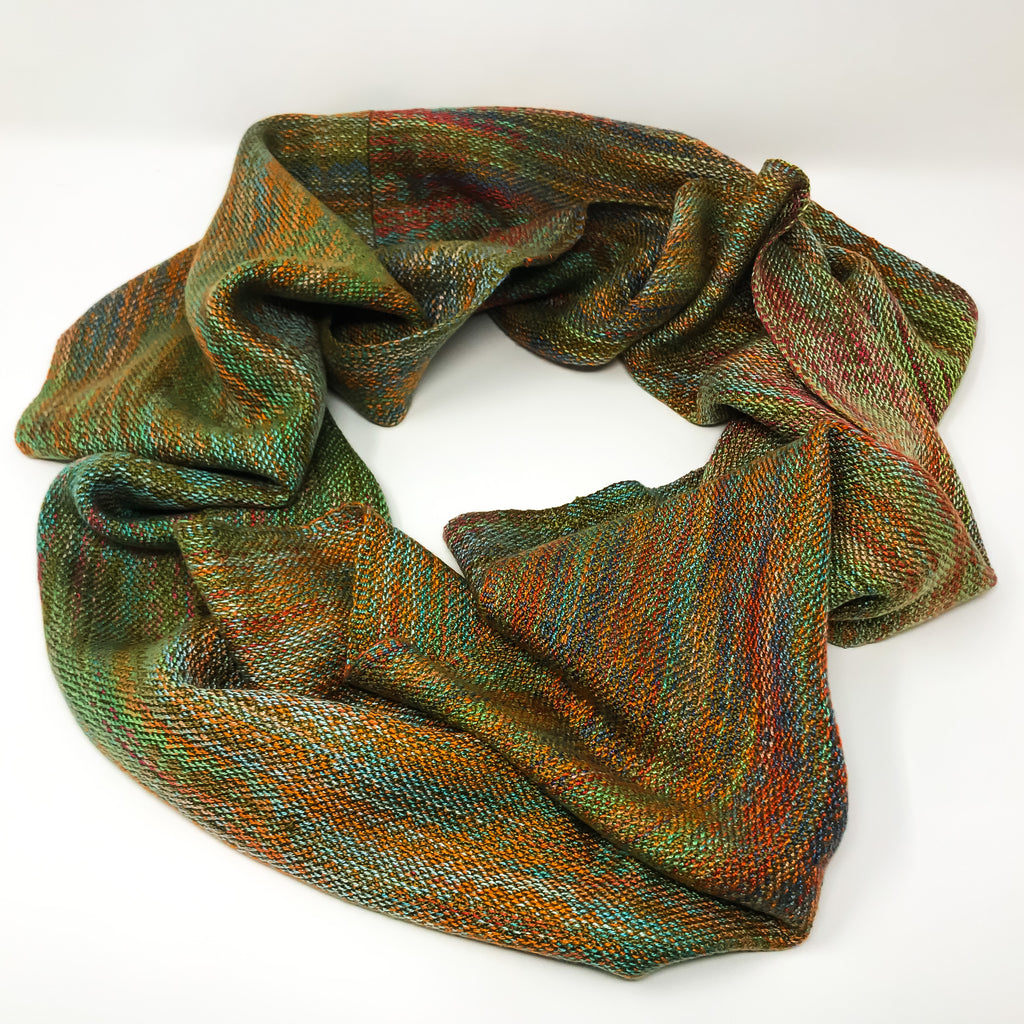 Falling Leaves Infinity Scarf 2 - Sydney Sogol, Wearable Art, Infinity Scarves, falling-leaves-infinity-scarf-2,