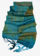 Common Kingfisher Skinny Scarf- Teal