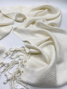 Classic Neutral- White - Sydney Sogol, Classic Scarves, classic-neutral-white,