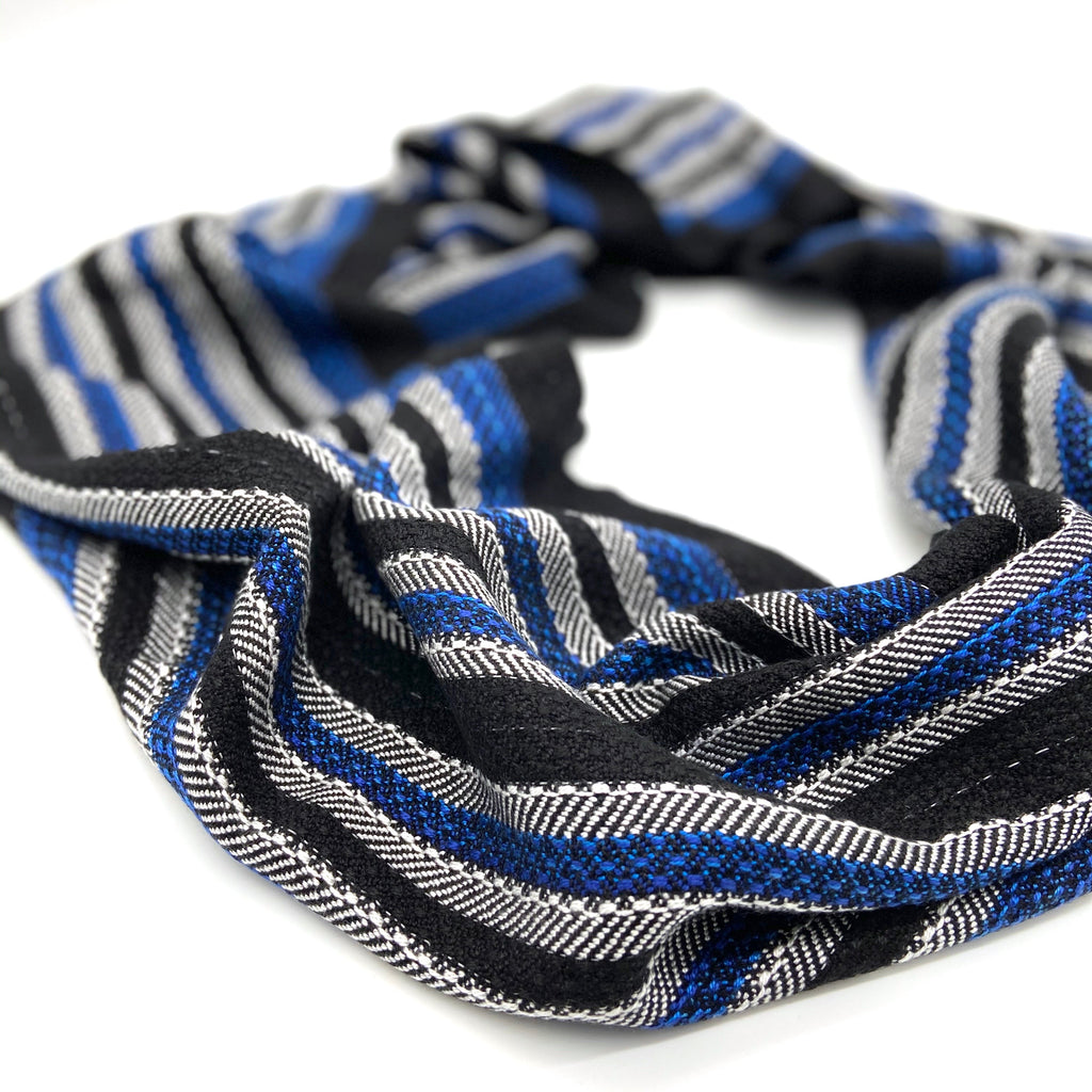 Vultute Gunea Fowl Infinity Scares-Black - Sydney Sogol, Infinity Scarves, vultute-gunea-fowl-infinity-scares-black, eco-friendly scarf, infinity scarf, night safe scarf, reflective scarf, sc