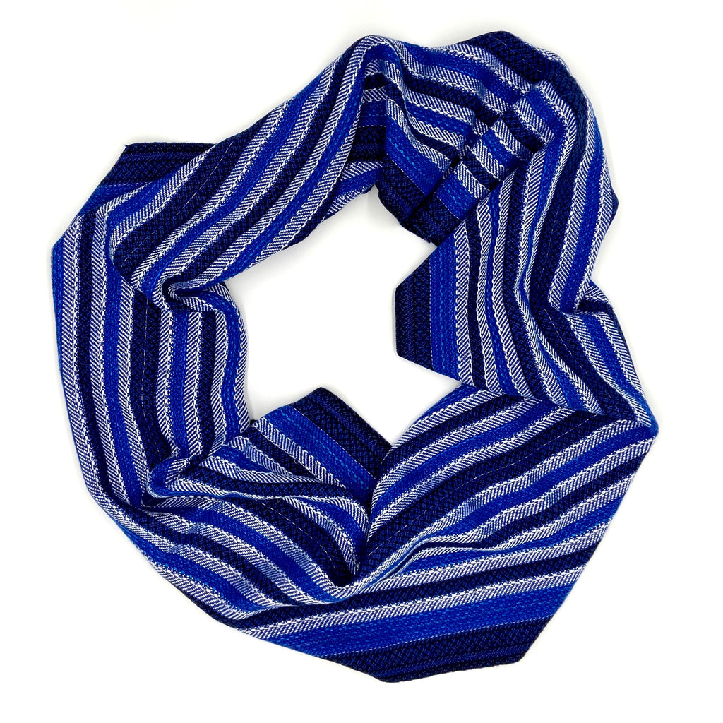 Vulture Guinea Fowl Infinity Scarf- Royal - Sydney Sogol, Infinity Scarves, vulture-guinea-fowl-infinity-scarf-royal, eco-friendly scarf, infinity scarf, night safe scarf, reflective scarf, s