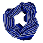 Load image into Gallery viewer, Vulture Guinea Fowl Infinity Scarf- Royal - Sydney Sogol, Infinity Scarves, vulture-guinea-fowl-infinity-scarf-royal, eco-friendly scarf, infinity scarf, night safe scarf, reflective scarf, s