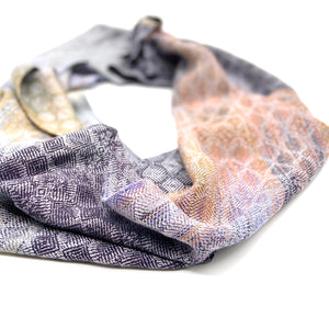 Silver Breasted Broadbill Infinity Scarf-Silver - Sydney Sogol, Infinity Scarves, silver-breasted-broadbill-infinity-scarf-silver, eco-friendly scarf, infinity scarf, scarf, tencel scarf, veg