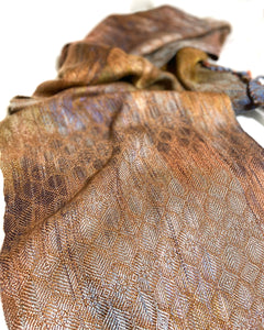 Silver Breasted Broadbill- Cinnamon - Sydney Sogol, Classic Scarves, silver-breasted-broadbill-cinnamon, Classic scarf, eco-friendly scarf, scarf, tencel scarf, vegan scarf