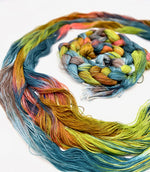 Load image into Gallery viewer, Hand Painted Warp: Tencel 5/2- KEA - Sydney Sogol, Hand dyed Yarn, hand-painted-warp-tencel-5-2-kea, Eco-friendly Yarn, Hand dyed warp, handpainted warp, tencel Warp, tencel yarn, warp, Weavi