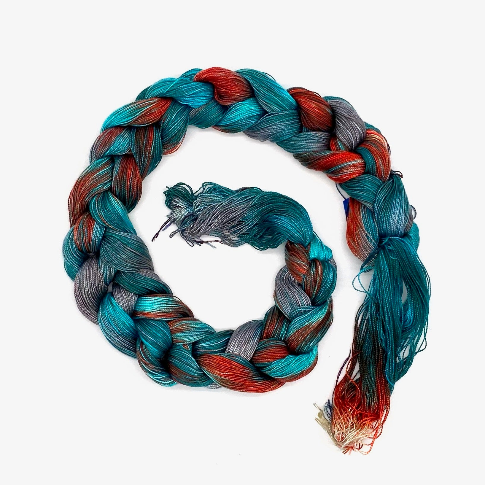 Hand Painted Warp: Tencel 5/2- Sacred Kingfisher - Sydney Sogol, Hand dyed Yarn, hand-painted-warp-5-2-sacred-kingfisher, Eco-friendly Yarn, Hand dyed warp, handpainted warp, tencel Warp, ten
