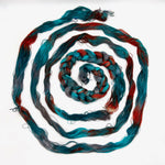 Load image into Gallery viewer, Hand Painted Warp: Tencel 5/2- Sacred Kingfisher - Sydney Sogol