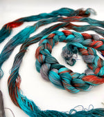Load image into Gallery viewer, Hand Painted Warp: Tencel 5/2- Sacred Kingfisher - Sydney Sogol, Hand dyed Yarn, hand-painted-warp-5-2-sacred-kingfisher, Eco-friendly Yarn, Hand dyed warp, handpainted warp, tencel Warp, ten