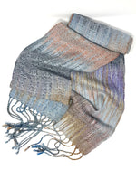 Load image into Gallery viewer, Silver Breasted Broadbill- Silver - Sydney Sogol, Skinny Scarves, silver-breasted-broadbill-silver, eco-friendly scarf, scarf, tencel
