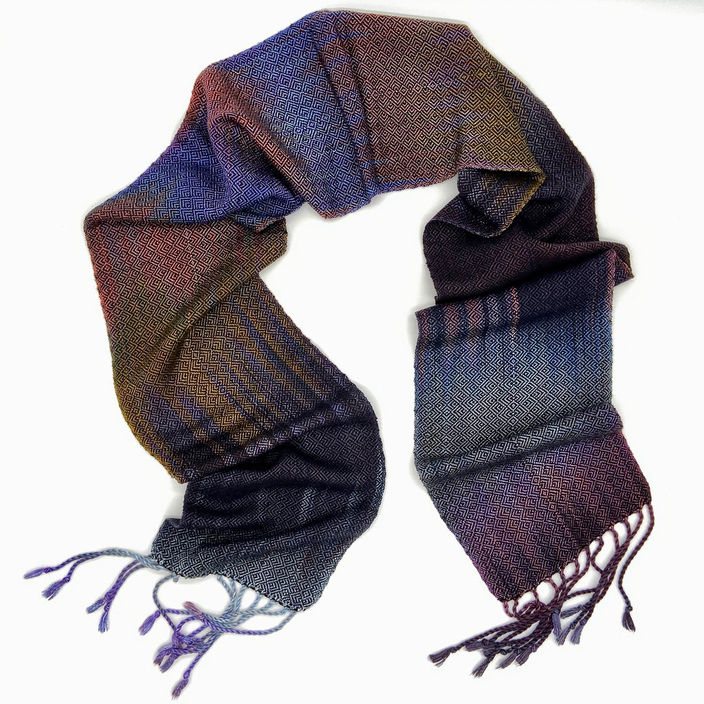 Silver Breasted Broadbill Skinny Scarf -Black - Sydney Sogol, Skinny Scarves, silver-breasted-broadbill-black,