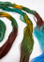 Load image into Gallery viewer, Hand Painted Warp: Tencel 8/2- Tui - Sydney Sogol, Hand dyed Yarn, hand-painted-warp-8-2-tui, Eco-friendly yarn, hand dyed warp, handpainted warp, tencel warp, tencel yarn, warp, Weaving yarn