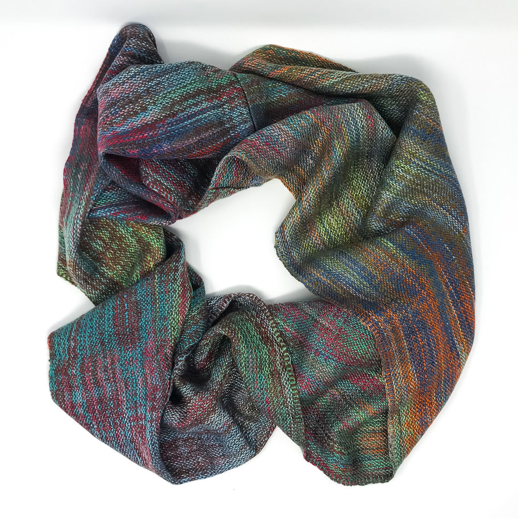 Fall Leaves Infinity Scarf  1 - Sydney Sogol, Wearable Art, Infinity Scarves, fall-leaves-infinity-scarf-1,