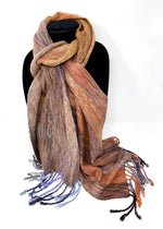 Load image into Gallery viewer, Silver Breasted Broadbill- Cinnamon - Sydney Sogol, Classic Scarves, silver-breasted-broadbill-cinnamon, Classic scarf, eco-friendly scarf, scarf, tencel scarf, vegan scarf
