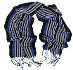 Load image into Gallery viewer, Vulture Guinea Fowl - Black Reflective Scarf - Sydney Sogol