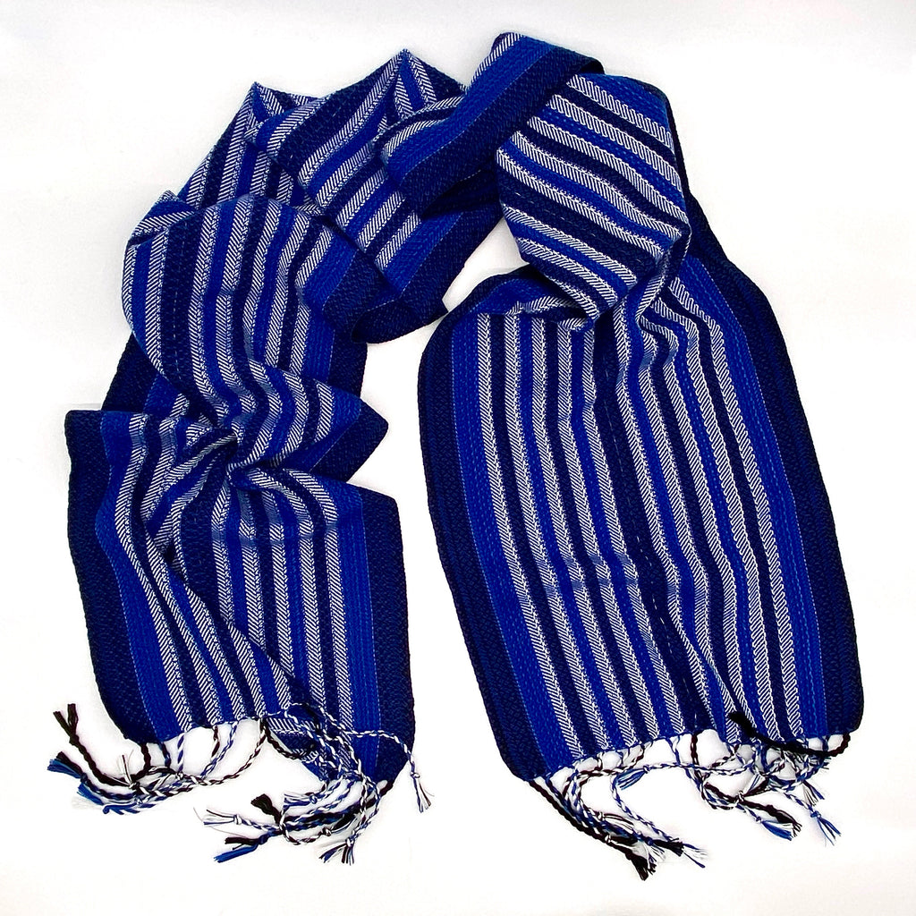 Vulture Guinea Fowl- Royal Blue Reflective Scarf - Sydney Sogol, Classic Scarves, vulture-guineafowl-royal-blue-reflective-scarf,