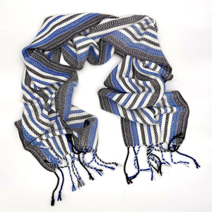 Vulture Guinea Fowl- White Reflective Scarf - Sydney Sogol, Classic Scarves, vulture-guineafowl-white-reflective-scarf,