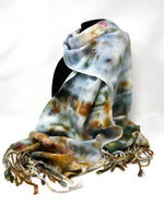 Load image into Gallery viewer, Rorschach Ice Dyed Classic Scarf 2 - Sydney Sogol, Wearable Art, Classic Scarves, rorschach-ice-dyed-classic-scarf-2,