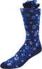 Cerulean Vines Men's Floral Socks
