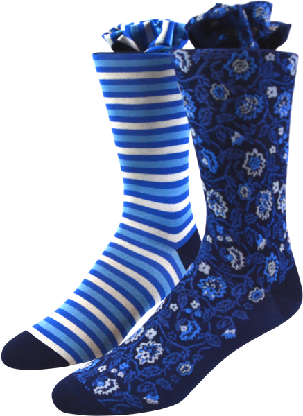 Cerulean Vines Men's Socks