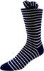 Dark Purity Men's Striped Socks