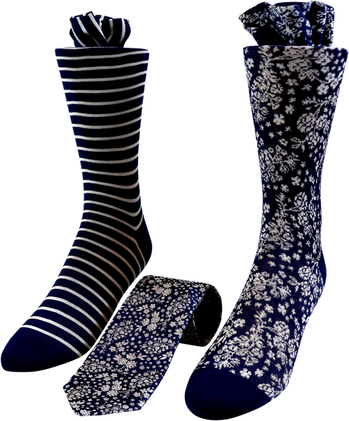 Dark Purity Men's Tie and Socks Set