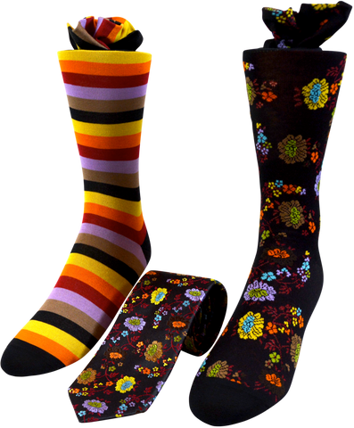 King's Terrace Men's Tie and Socks Set
