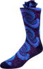 Ocean Waves Men's Paisley Socks