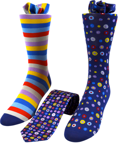 Polka Dot Men's Tie and Socks Set