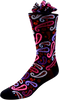 Purple Pink Paisley Men's Paisley Socks