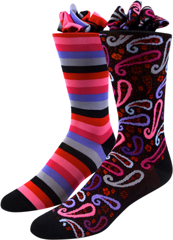 Purple Pink Paisley Men's Socks
