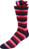 Rose Mix Men's Striped Socks