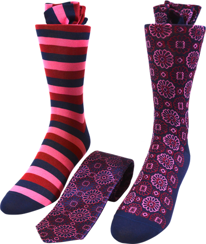 Rose Mix Men's Tie and Socks Set