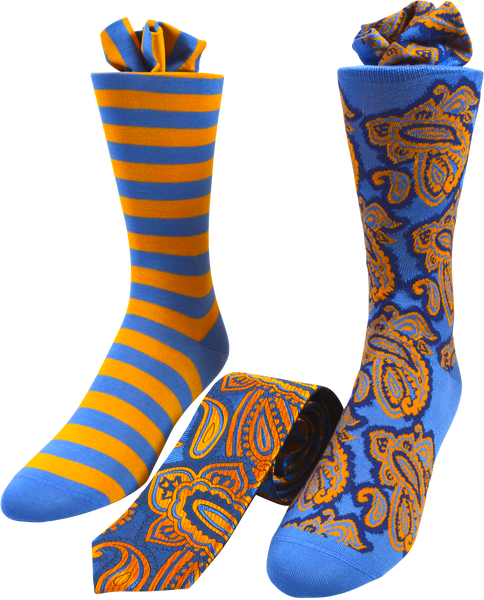 Summer Whirlwind Men's Tie and Socks Set