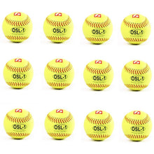 Load image into Gallery viewer, OSL-1 palla da competizione softball, 12'', giallo, 12pz