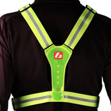 Load image into Gallery viewer, LW-1 Gilet fluo – Gilet fluorescente con luci a LED e bande riflettenti