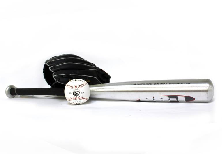 BGBA-3 Set da baseball principianti, youth - Mazza in alluminio, guantone, palla (BB-1 28'', JL-110, BS-1 9'')