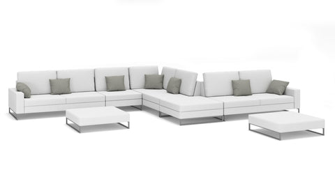 Laguna Large Sectional W/ Ottoman's - Modern HD