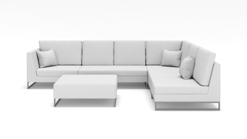 Laguna Right Face Sectional W/ Ottoman - Modern HD