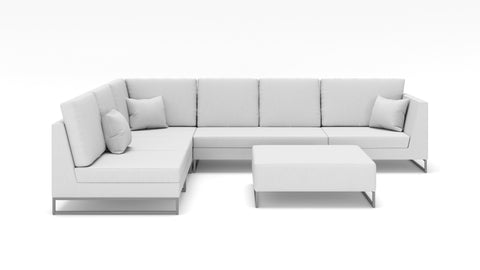 Laguna Left Face Sectional W/ Ottoman - Modern HD