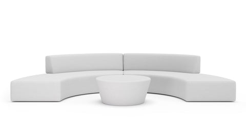 Curvado Sectional With Ottoman - Modern HD