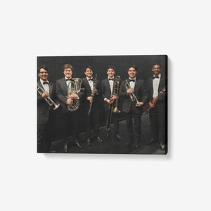"1 Piece Canvas Wall Art for Living Room - Framed Ready to Hang 24""x18"" High School Band"