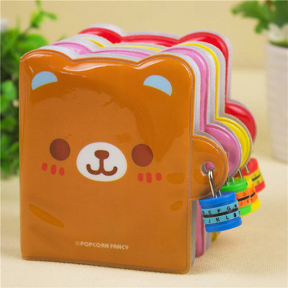 Lovely Goods Gift Password Lock  Notebook Stationery Special Diary Notepad Simple Grateful Magic Funny Color Random