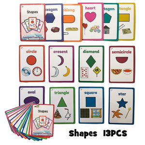 English Pocket Card Montessori Toys Early Education Children's Learning Flashcards Memory Game Kids Classroom Decoration