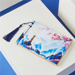 Bullet Journal Notebook Weekly Planner Stationery Store School Chinese Style Tassel Retro Handmade Sketchbooks Notepad 016007
