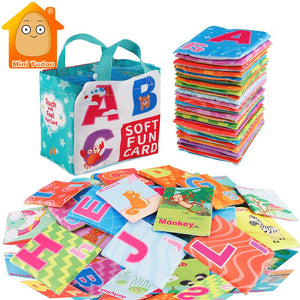 Newest Flashcards Learning Resource Baby Book Toy 26PCS Soft Alphabet Cards Babies English Reading Books