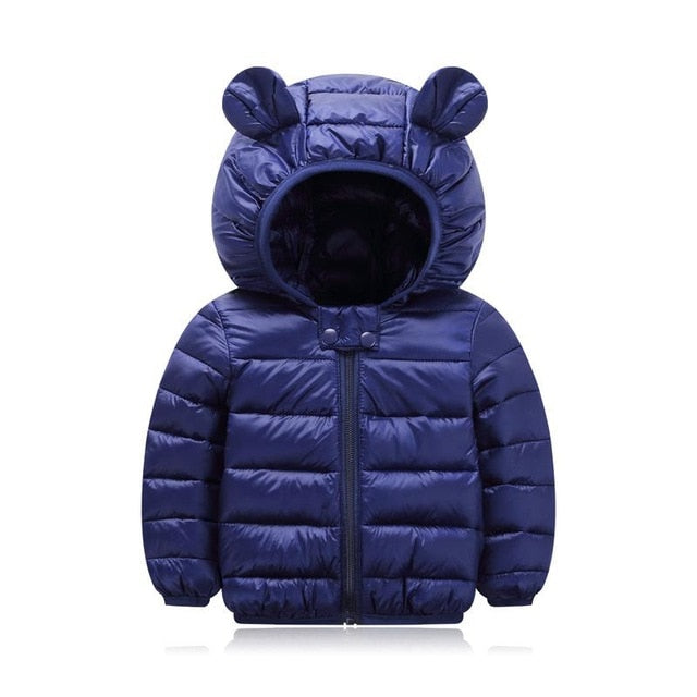 Cute 1- 5y baby girls jacket kids boys fashion coats with ear hoodie spring girl clothes infant clothing children's jackets