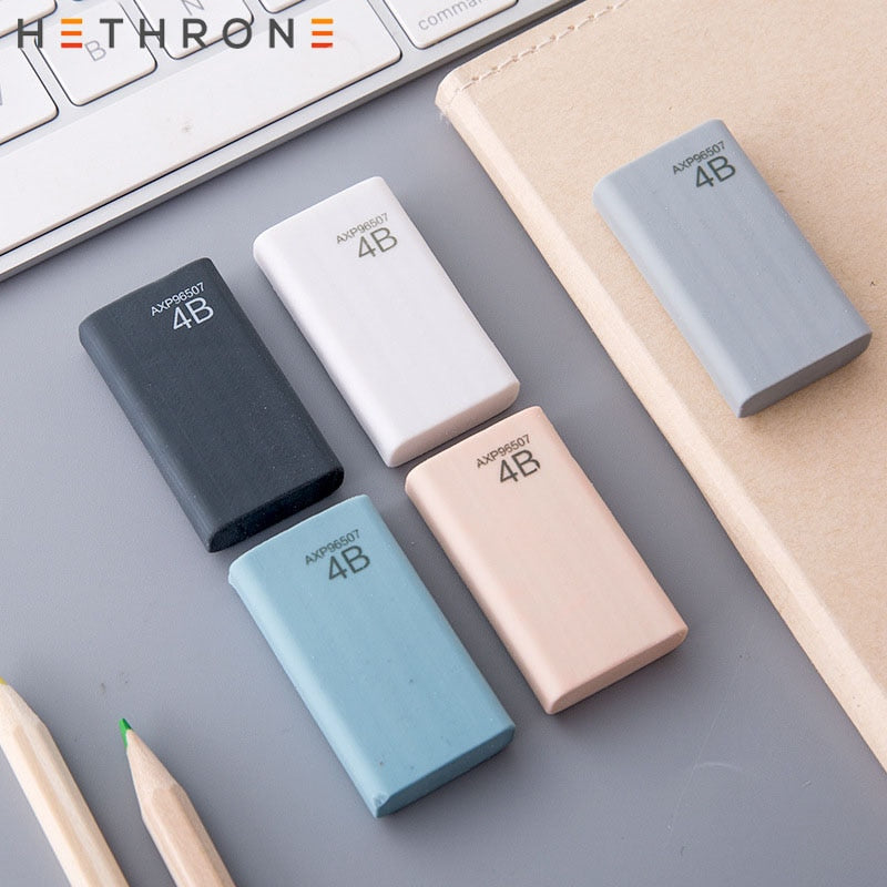 Hethrone Colored Student Professional Examination Art Drawing Eraser Pencil Eraser Creative 4B Rubber Eraser Papelaria Gift For